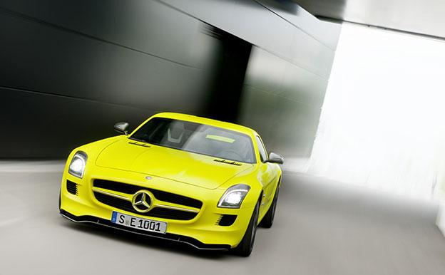 Mercedes-Benz SLS AMG E-CELL Elektroauto Sportwagen