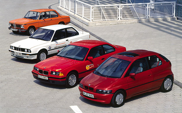 BMW Elektroautos Elektrofahrzeuge Geschichte