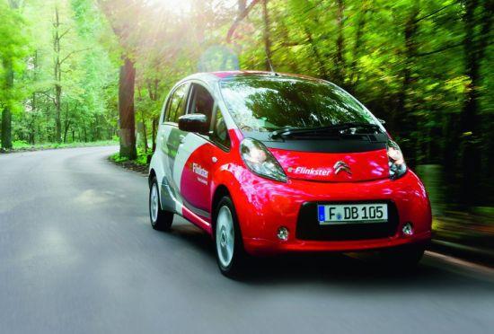 Mitsubishi i-MIEV: Batteriebetriebenes Elektroauto in der Flotte von Flinkster (Quelle: DB)