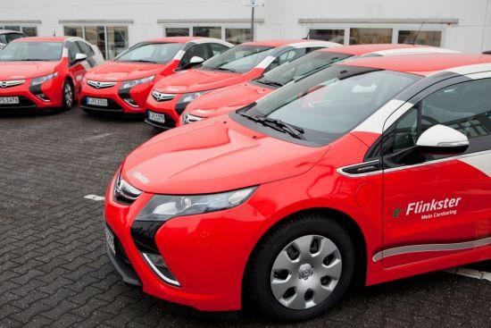 Opel Ampera: Mit Range Extender für eine uneingeschränkte Reichweite bei Flinkster (Quelle: FLINKSTER)