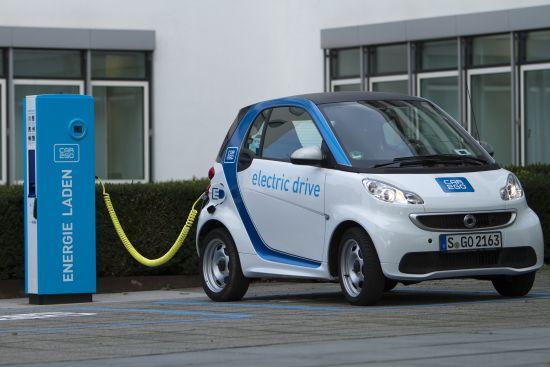 smart fortwo electic drive: Im Dienst beim car2go (Quelle: DAIMLER)
