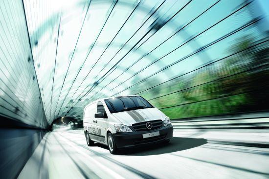 Mercedes-Benz Vito E-CELL: Motorleistung 60 kW, Batteriekapazität 36 kWh, Reichweite 130 km (Quelle: DAIMLER)