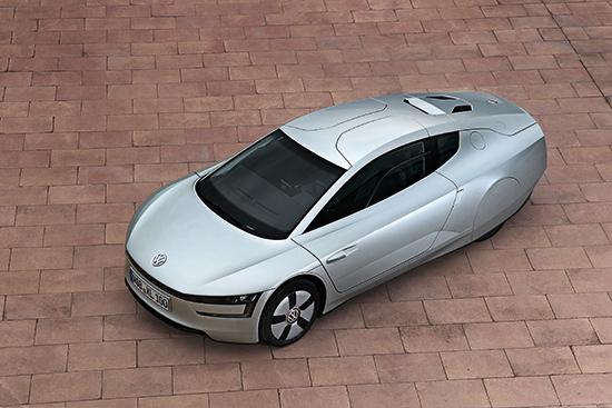 VW XL1: Diesel-Elektro-Hybrid im besonders unkonventionellen und außergewöhnlichen Design (Quelle: VW)