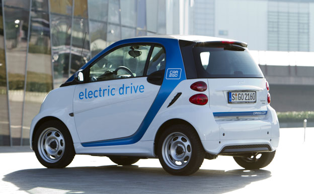 Carsharing Elektroauto car2go