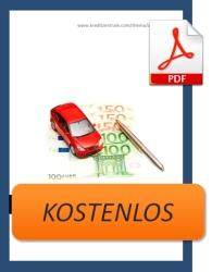 Kostenloses Ebook zum Thema Autofinanzierung