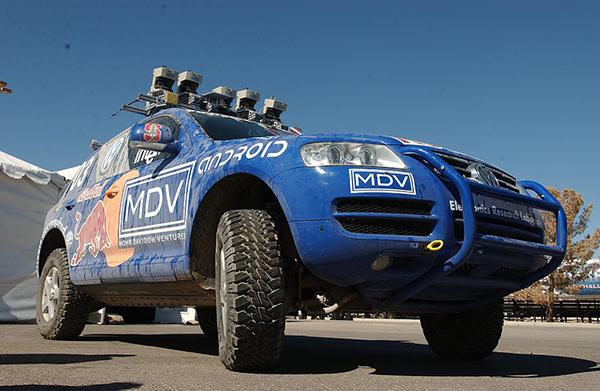 Stanley vom Standford Racing Team: Erstplazierter Wagen der DARPA Grand Challenge 2005