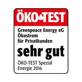 Greenpeace Energy Auszeichnung ÖKO-TEST