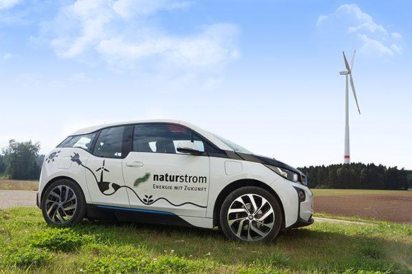 NATURSTROM Ladekarte für Elektroautos
