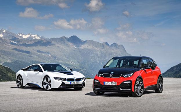 BMW i3 und i8 Plug-In-Hybridautos Hybridantrieb