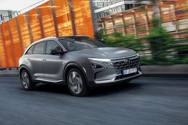 Hyundai Nexo Brennstoffzellenauto Frontansicht