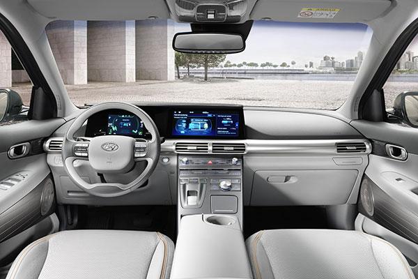 Hyundai Nexo Brennstoffzellenauto Innenraum