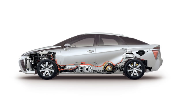 Toyota Mirai FCEV Brennstoffzellenauto Wasserstoffauto