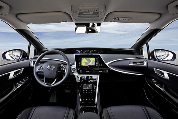 Toyota Mirai Brennstoffzellenauto Innenraum
