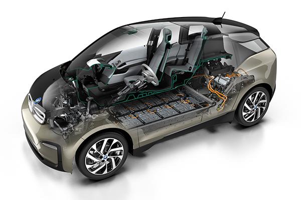 BMW i3 (120 Ah) Elektroauto Querschnitt