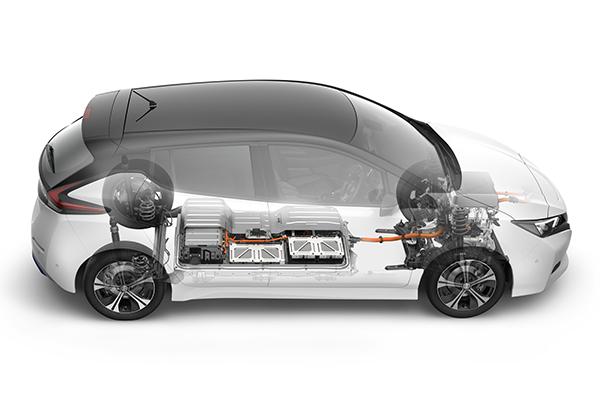 Nissan Leaf ZE1 Elektroauto Querschnitt