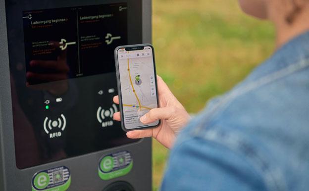 EnBW mobility+ Smartphone App Ladestation finden