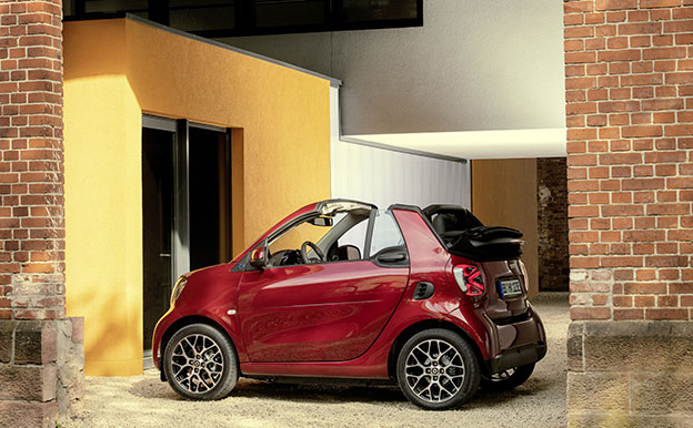 smart EQ fortwo cabrio Elektroauto Elektro-Cabrio